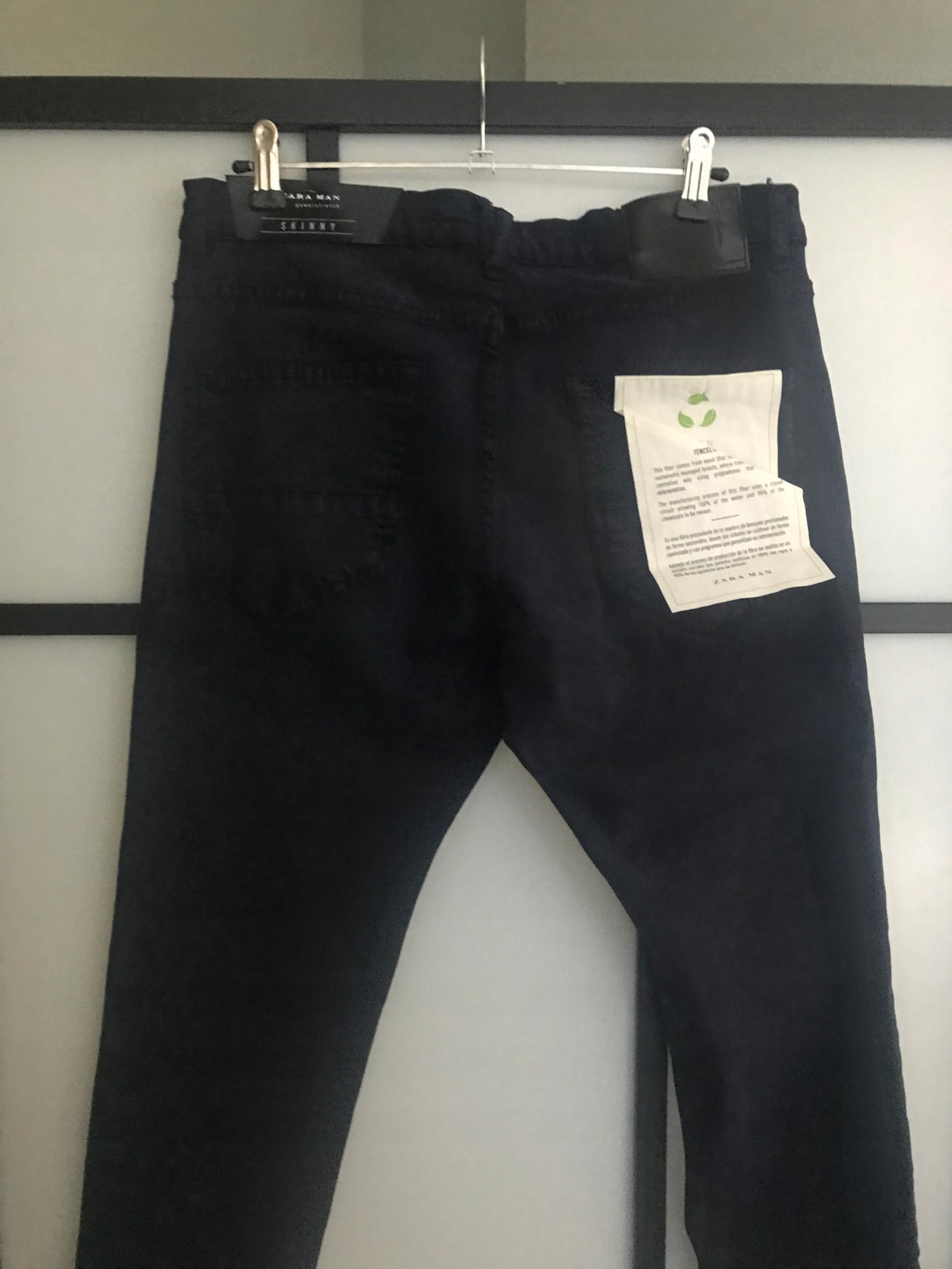 Jeansy spodnie męskie elastyczne rurki ZARA nowe