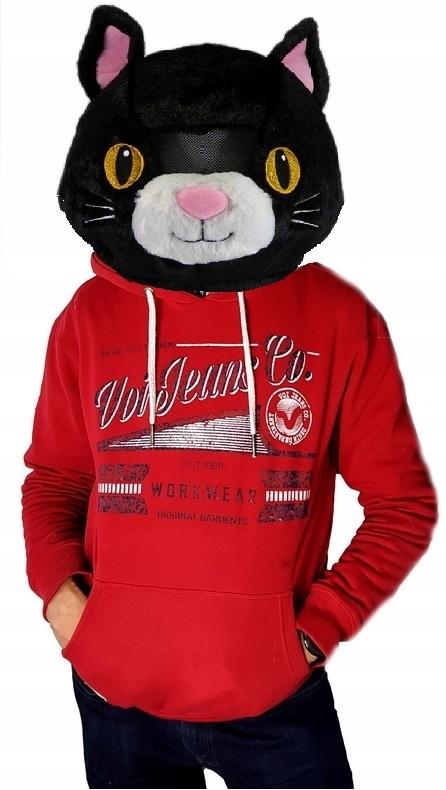 Pluszowa głowa - kot