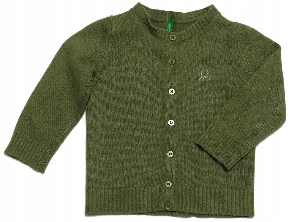 BENETTON sweterek WEŁNA LANA WOOL ULL 80-86