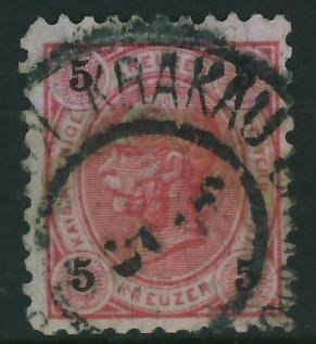 Krakau 1 1896 r - stempel na zn.austryjackim