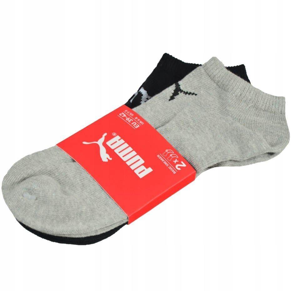 M1. Skarpety Puma Sneaker V 2 pary szare czarne 28