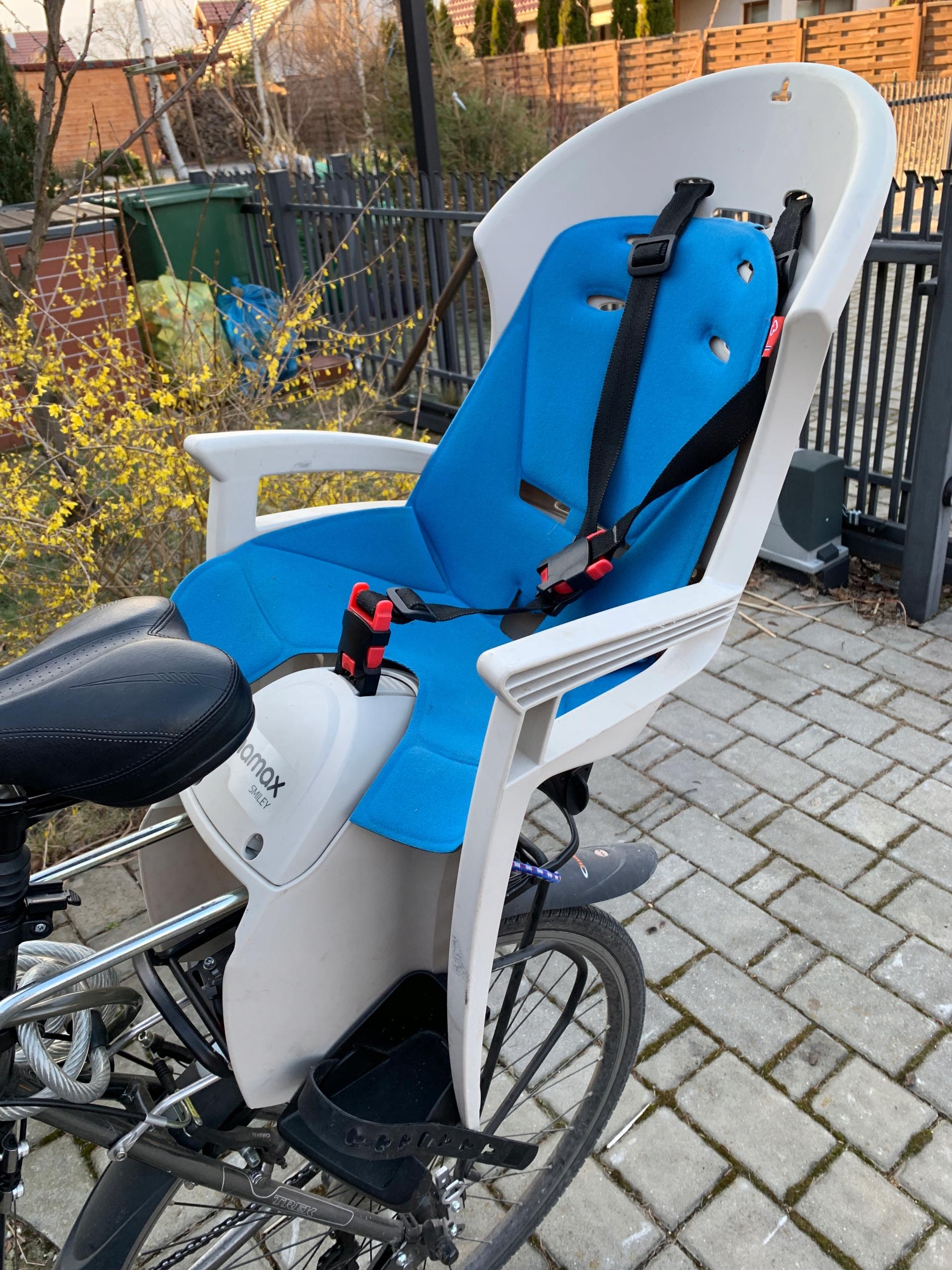 Fotelik rowerowy dziecięcy HAMAX Smiley stan BDB