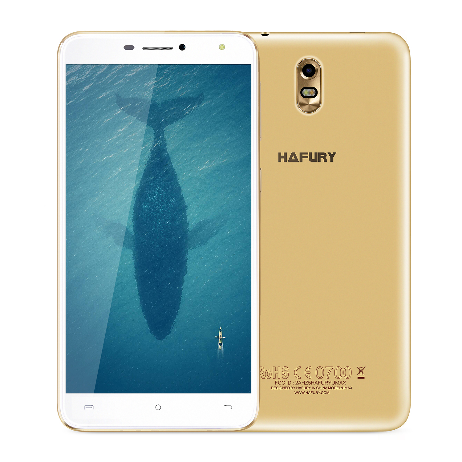 "CUBOT Hafury Umax 6"" 3G 2+16 Android 7 Złoto"