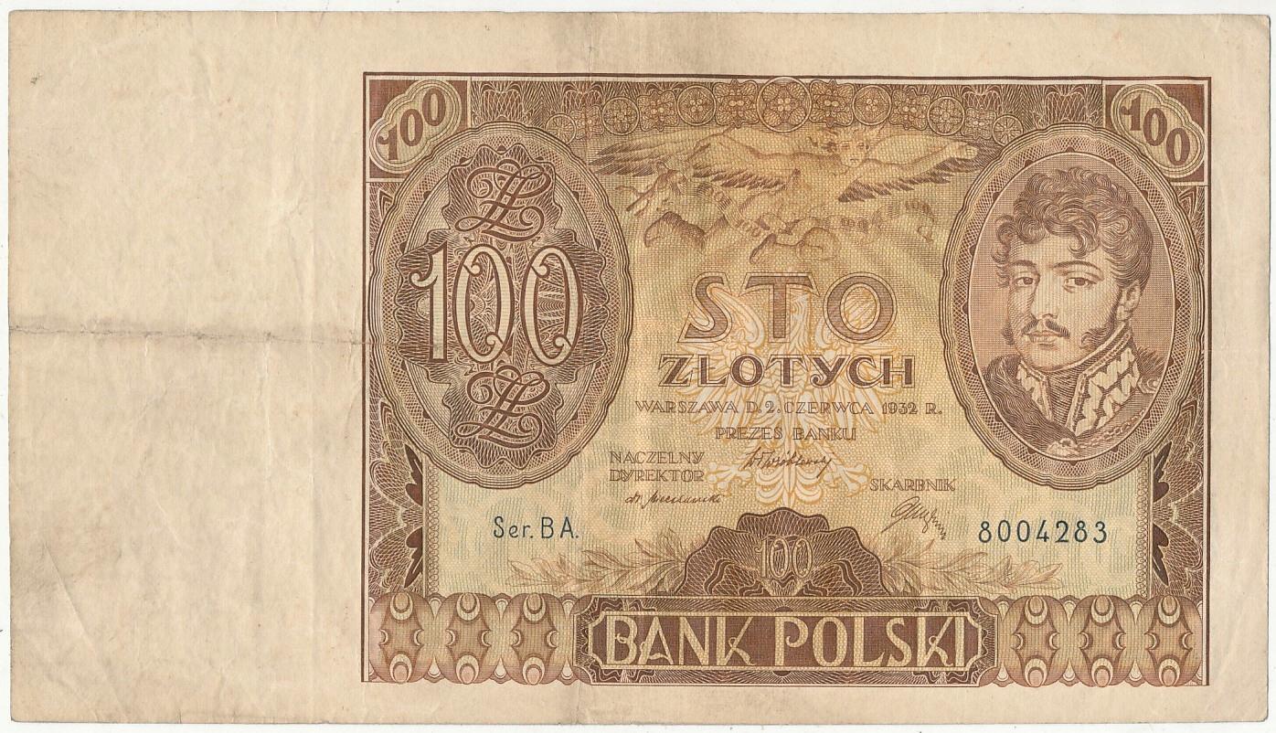 100 złotych 1932 r Ser.B A.