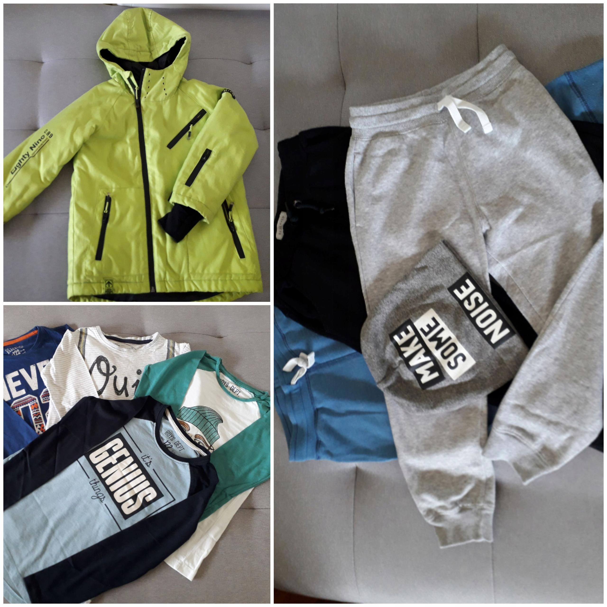 Ubrania dla chłopca jesień-zima roz 122 H&M