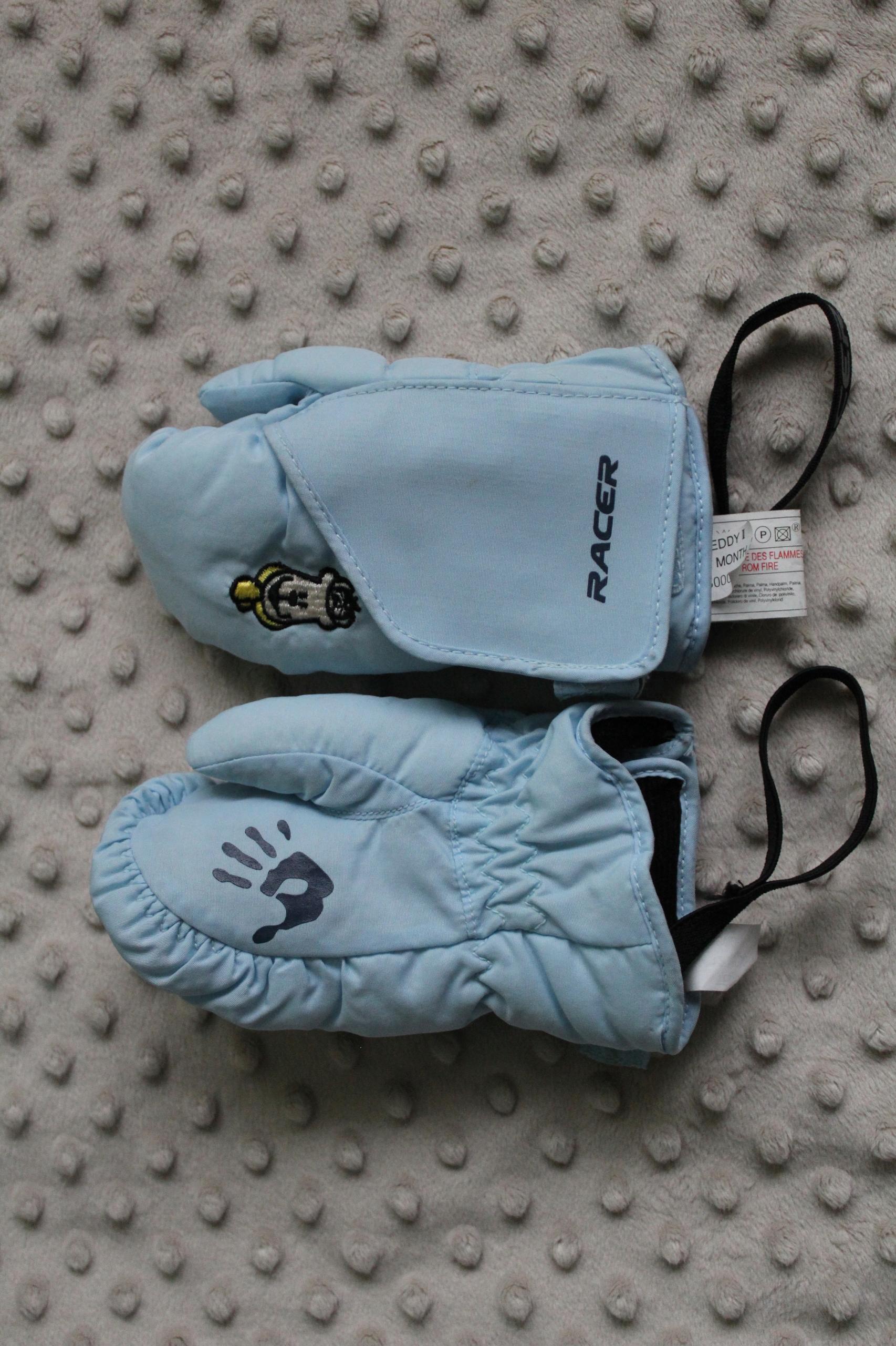 rękawiczki nieprzemakalne 12 m-cy gumki jak nowe