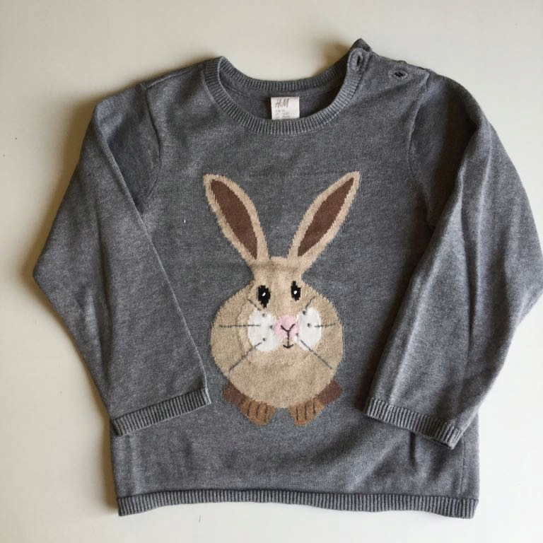 H&M sweter królik zając 92