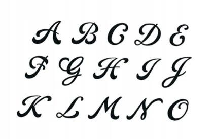 Tatuaż Zmywalny Litery Alfabet Gotyk 7537922384