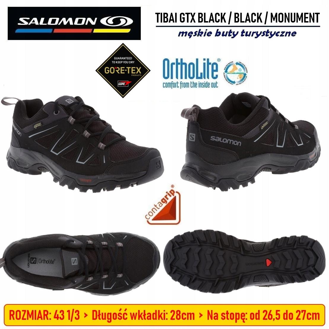 MĘSKIE BUTY SALOMON TIBAI GTX trekkingowe R 43 13