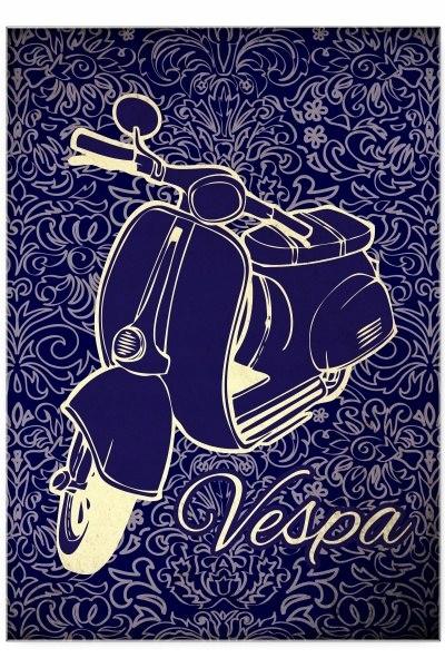 Blacha dekoracyjna / ozdobna VespaLove : Rozmiar: