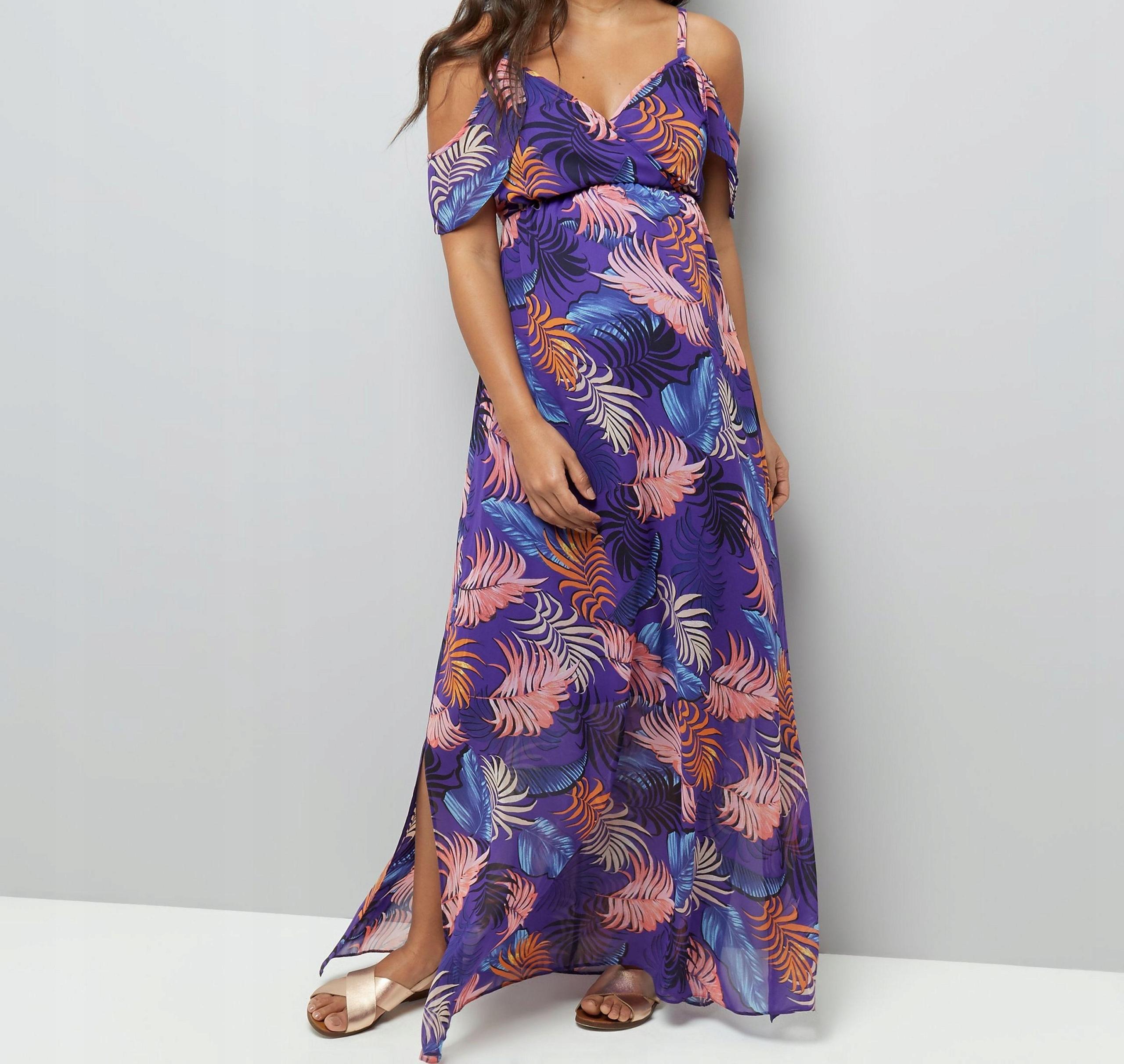 New Look Ciążowa maxi sukienka XL42 7938008749