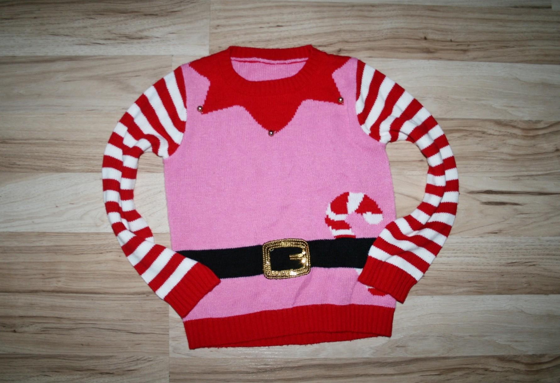 ST.BERNARD śliczny sweterek ŚWIĄTECZNY 134 BDB