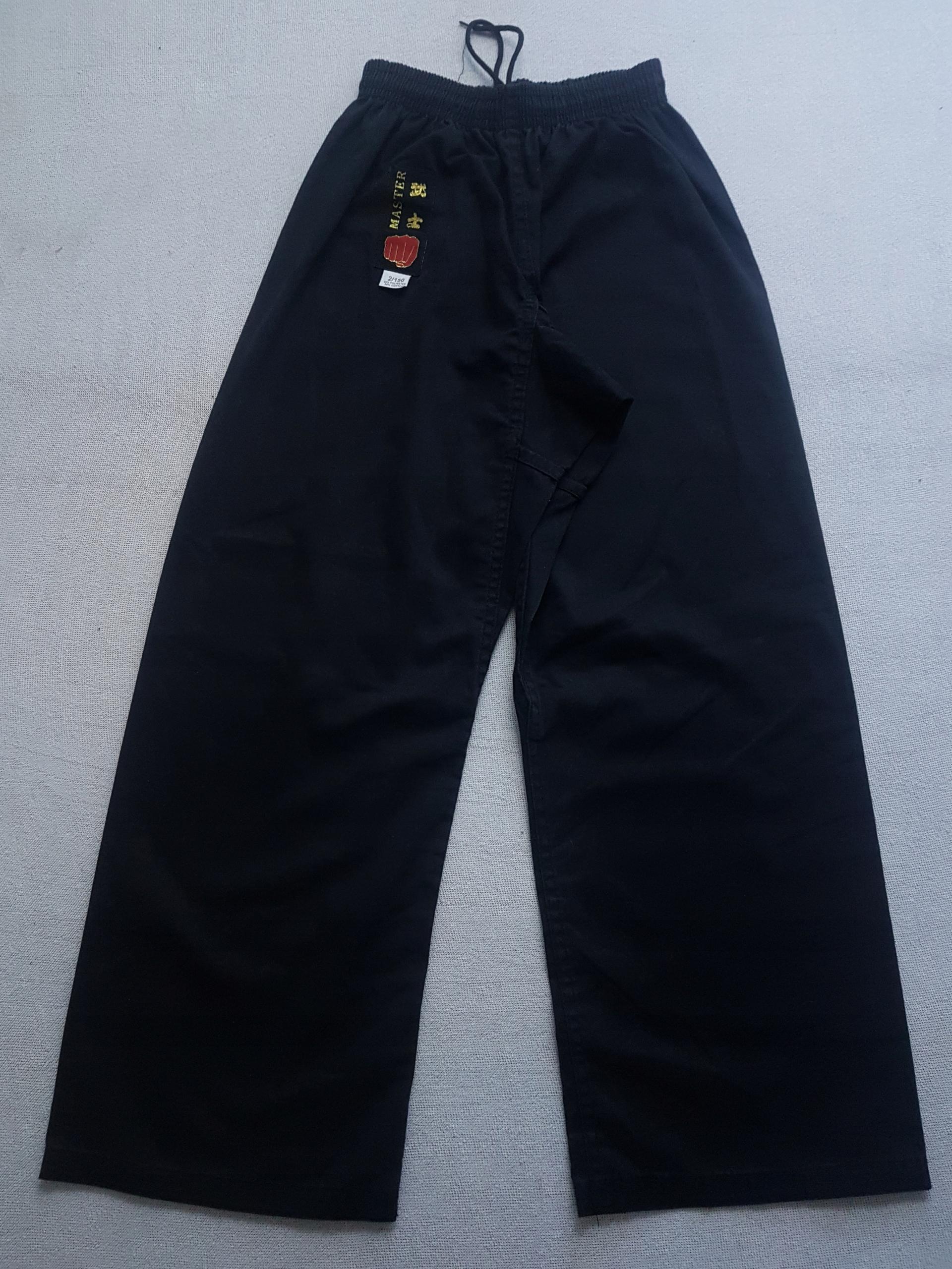 Spodnie kimono czarne Master, 160 cm