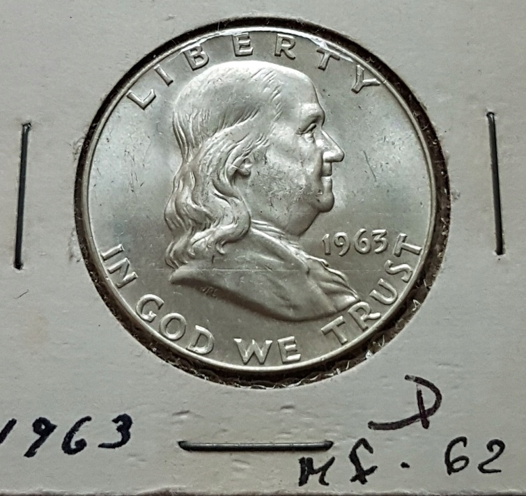 1/2 $ Dolara 1963 r D Dzwon Piękny stan ! Srebro