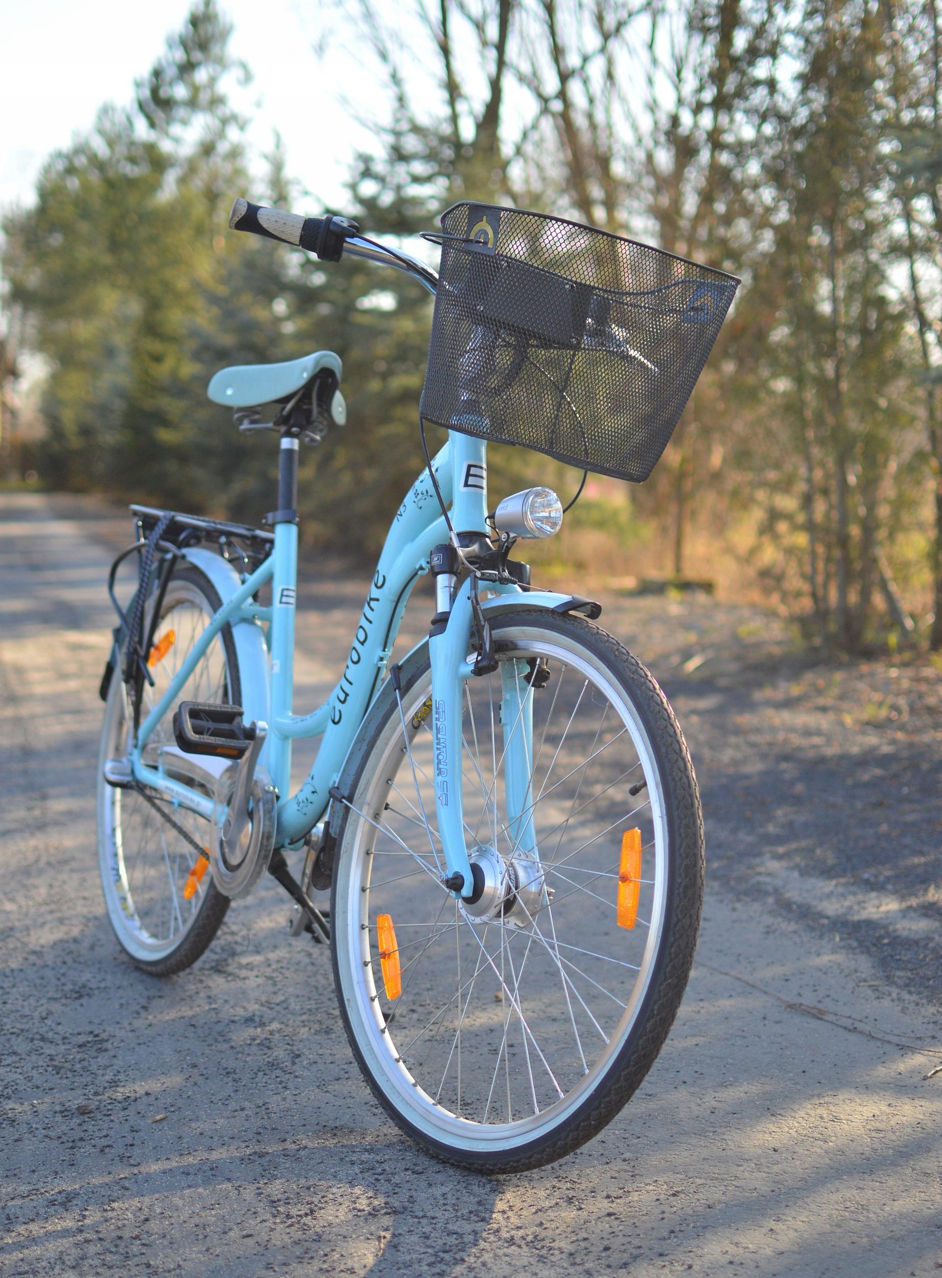 Rower Eurobike Picnic błękitny rama 18 st. idealny
