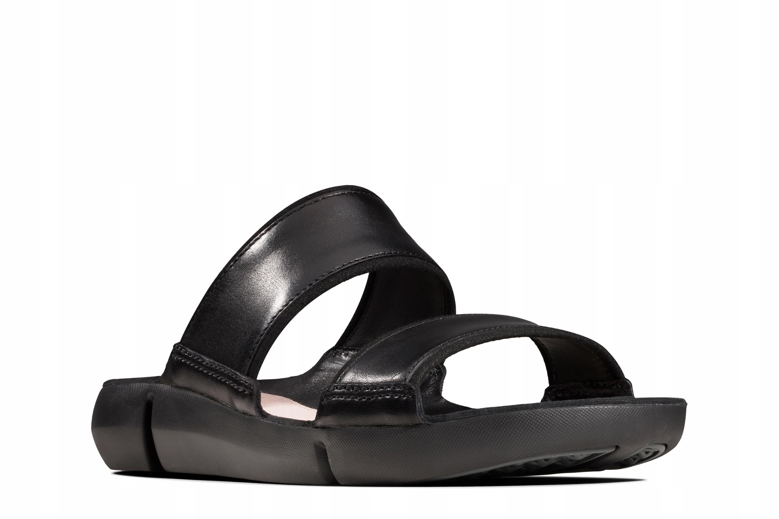 KLAPKI CLARKS TRI SARA Black Leather 37,5