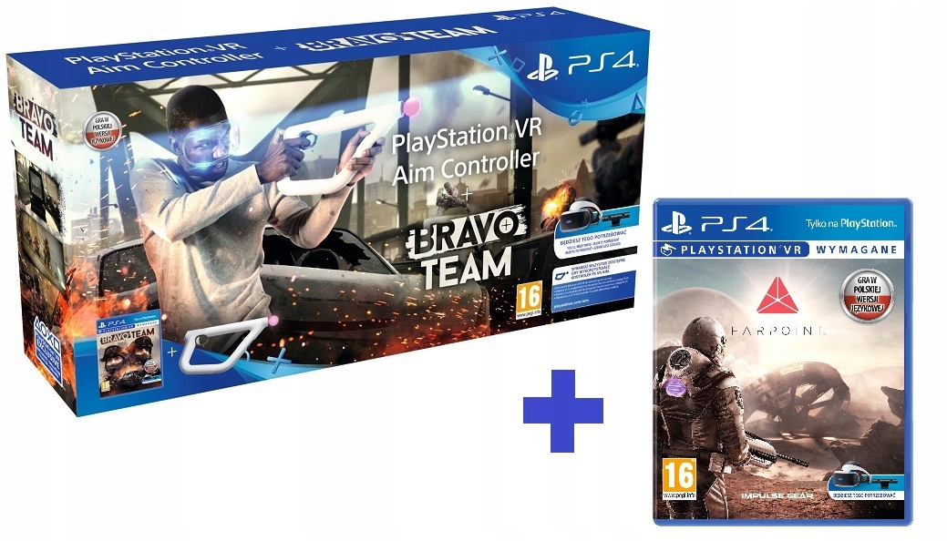 Aim Controller + Bravo Team + Farpoint do PS4 VR