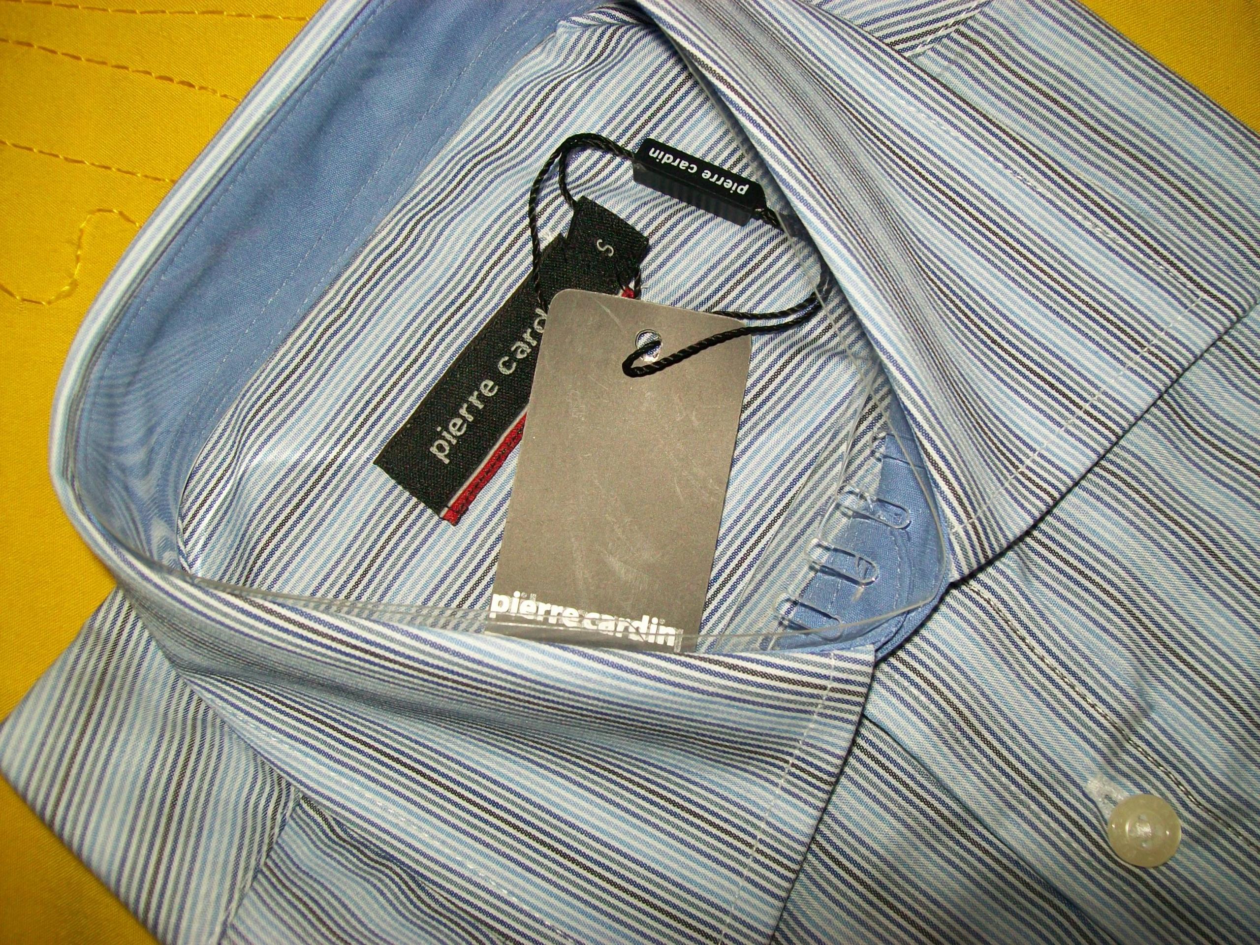 PIERRE CARDIN elegancka koszula paseczki S