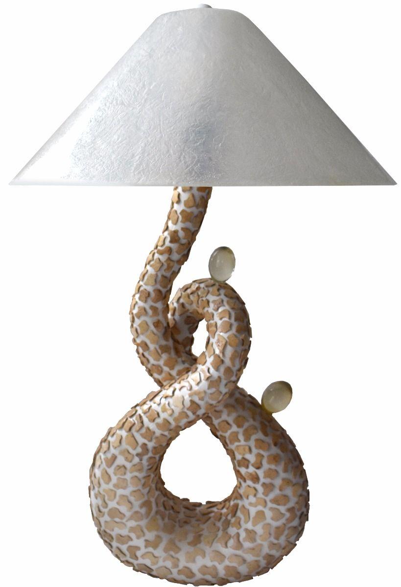 Ręcznie DEKOROWANA LAMPA Stojąca Żywica VINOTTI