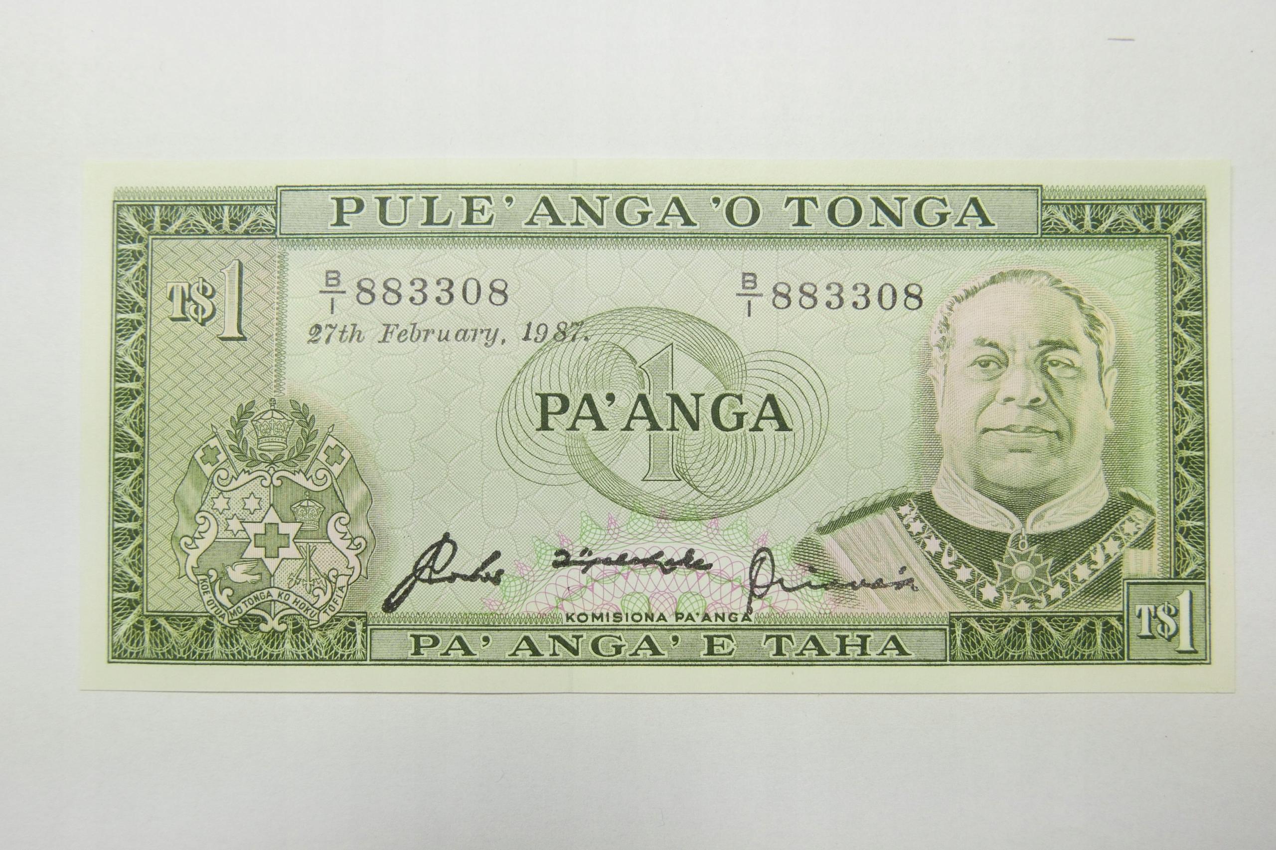 Banknot - 1 Pa'anga 1987 TONGA - J515