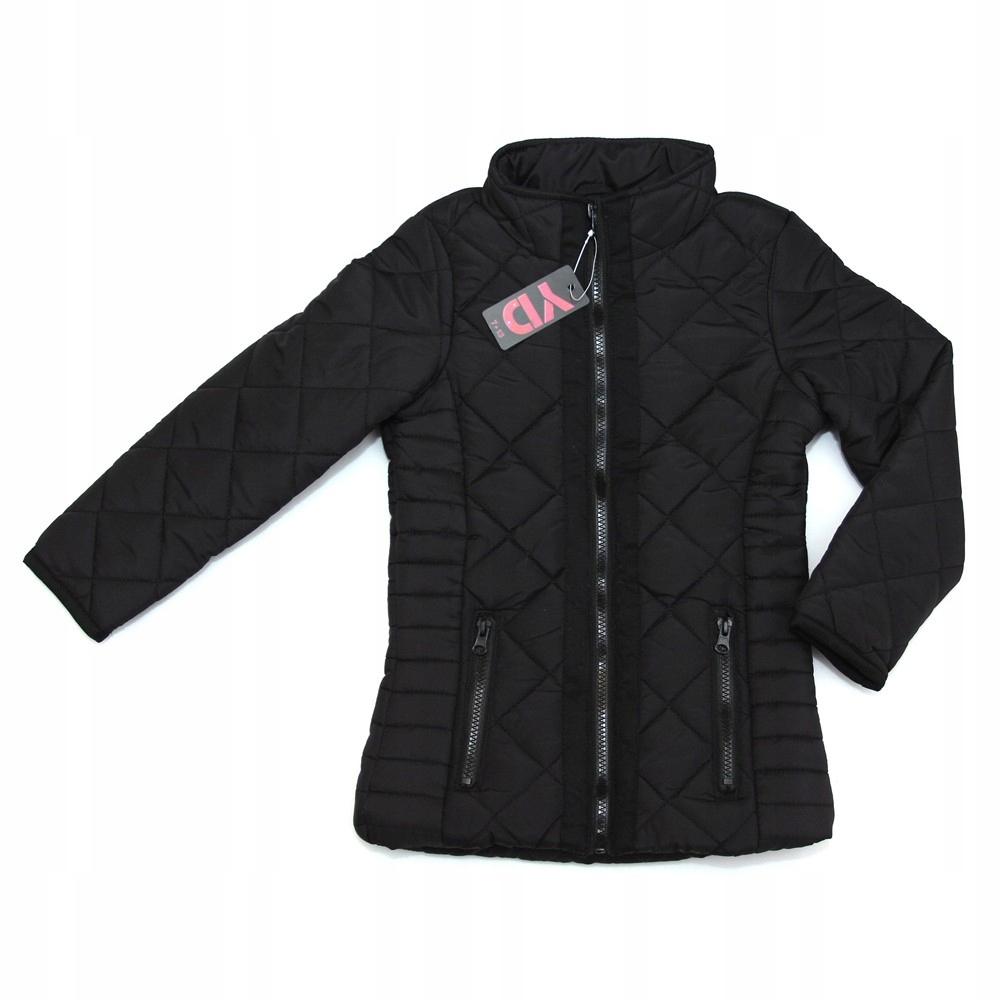 Czarna kurtka pikowana PRIMARK YD 11-12 lat 152