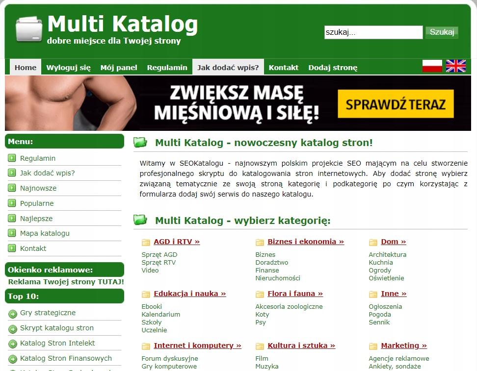 Licencja skryptu katalogu + serwer + instalacja