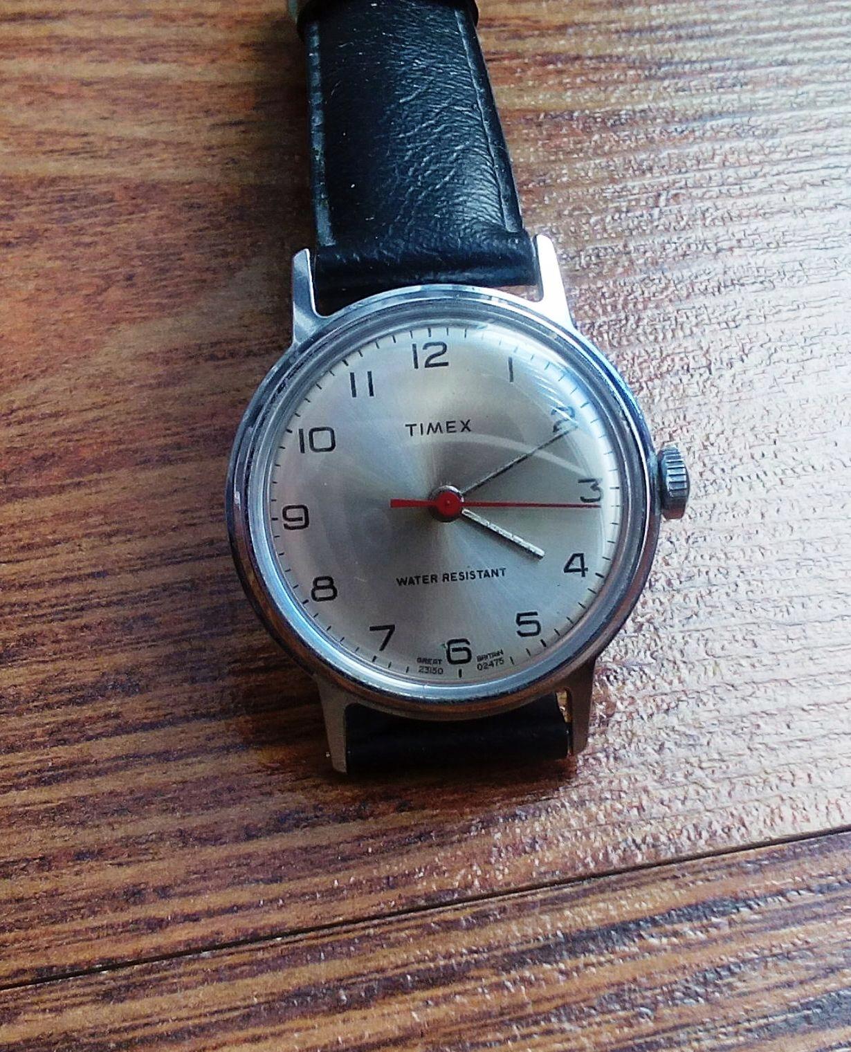 Znakomity, przepiękny mechaniczny zegarek Timex
