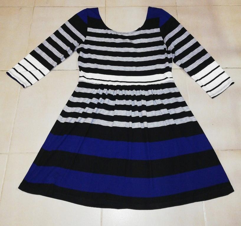 tunika ciążowa sukienka XL paski USA 42