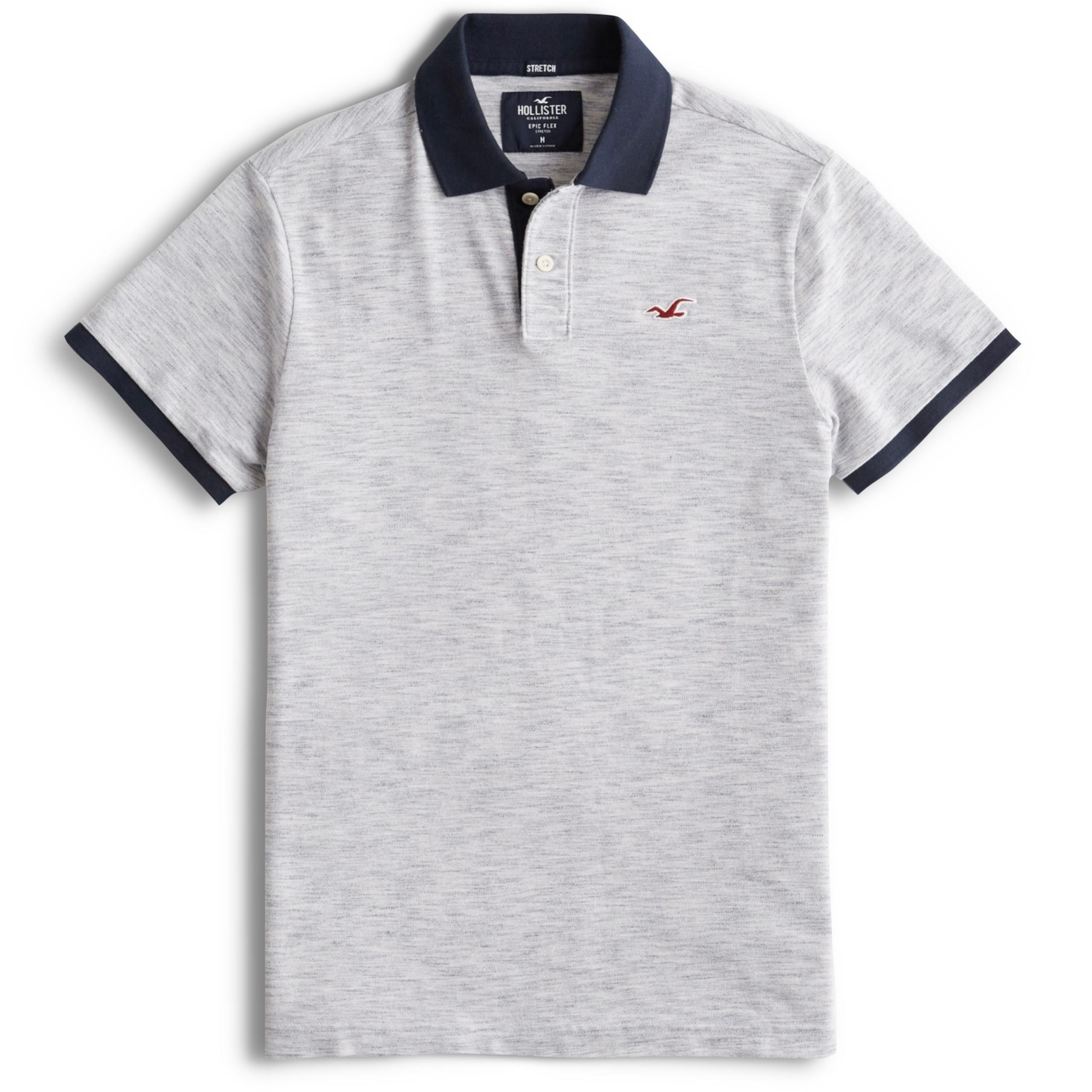 HOLLISTER Abercrombie Koszulka Polo Męska USA L