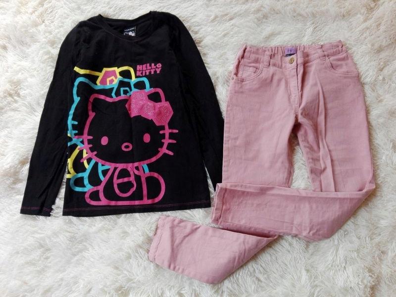 Komplet bluzka Hello Kitty spodnie rurki 140