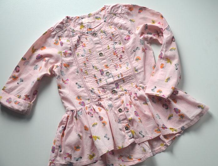 Koszula bawełniana z baskinką Next 110 cm