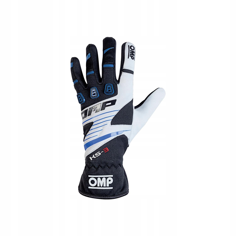 Rękawice OMP KS-3 czarno - niebieski XL!