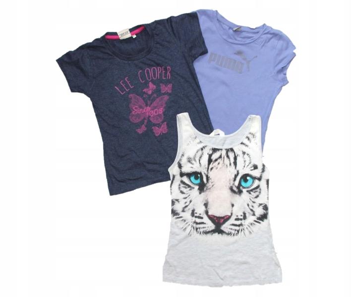 T-shirt 3X Puma, Lee, H&M 12 - 12 L 158 164