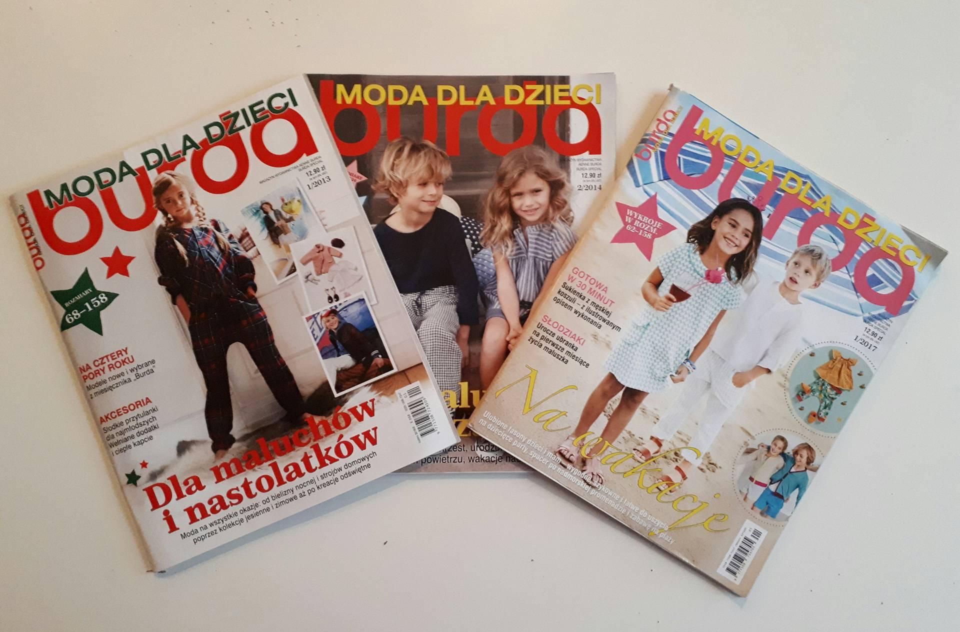 Burda Moda dla dzieci 1/2013 +2/2014 + 1/2017