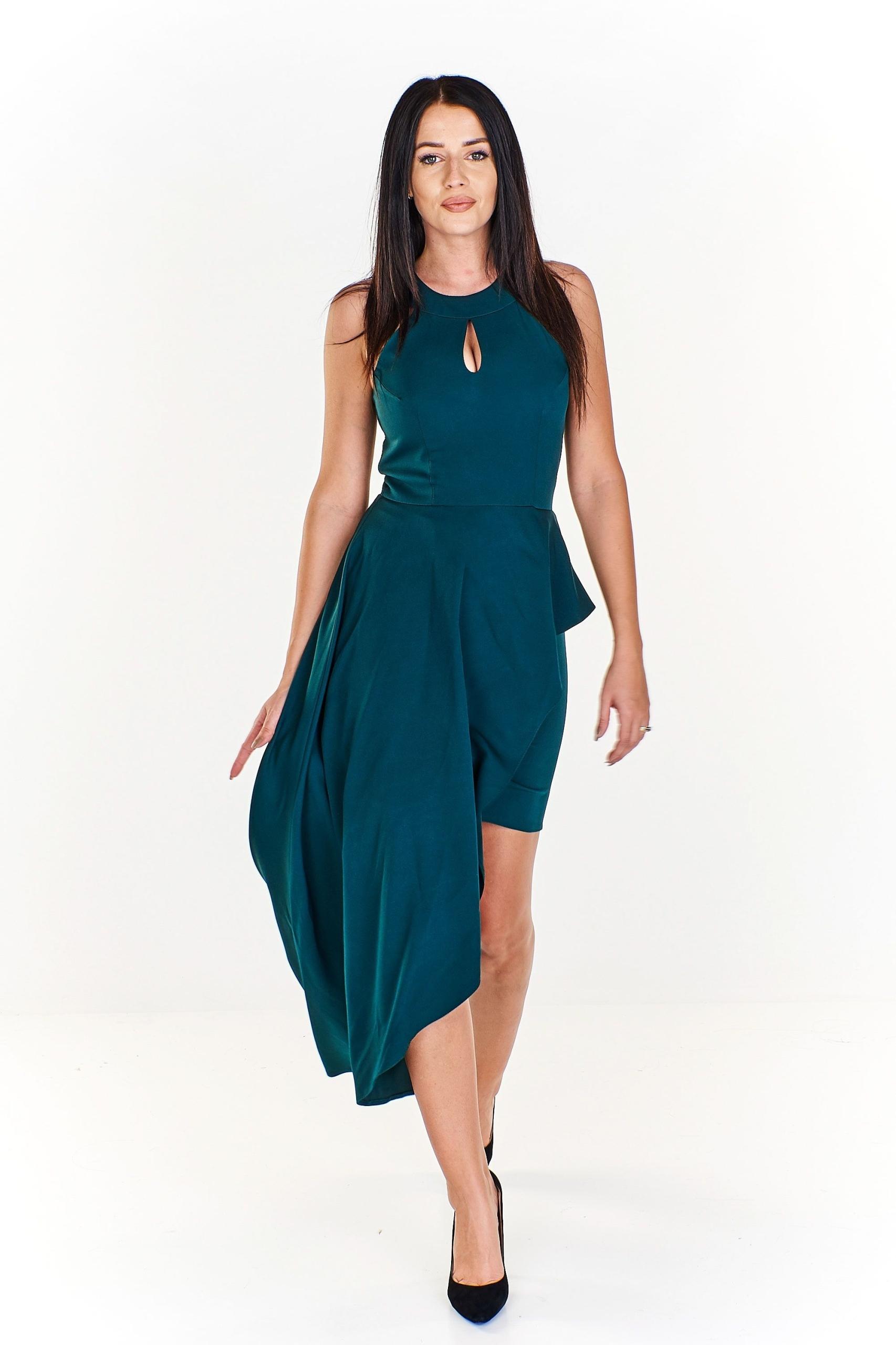 9c1ae5865b Sukienka mini z dłuższym bokiem a la tren - 7796837167 - oficjalne ...