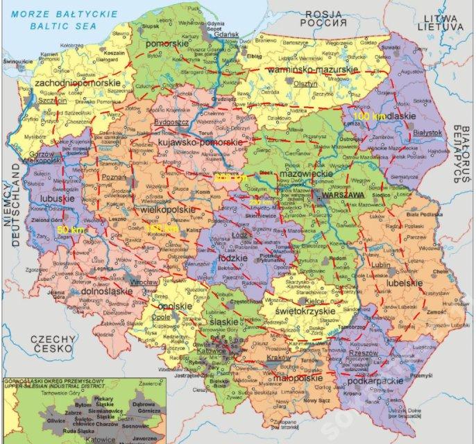 Hit Mapa Polski świata Foto Tablica Duża 120x60 6210779529