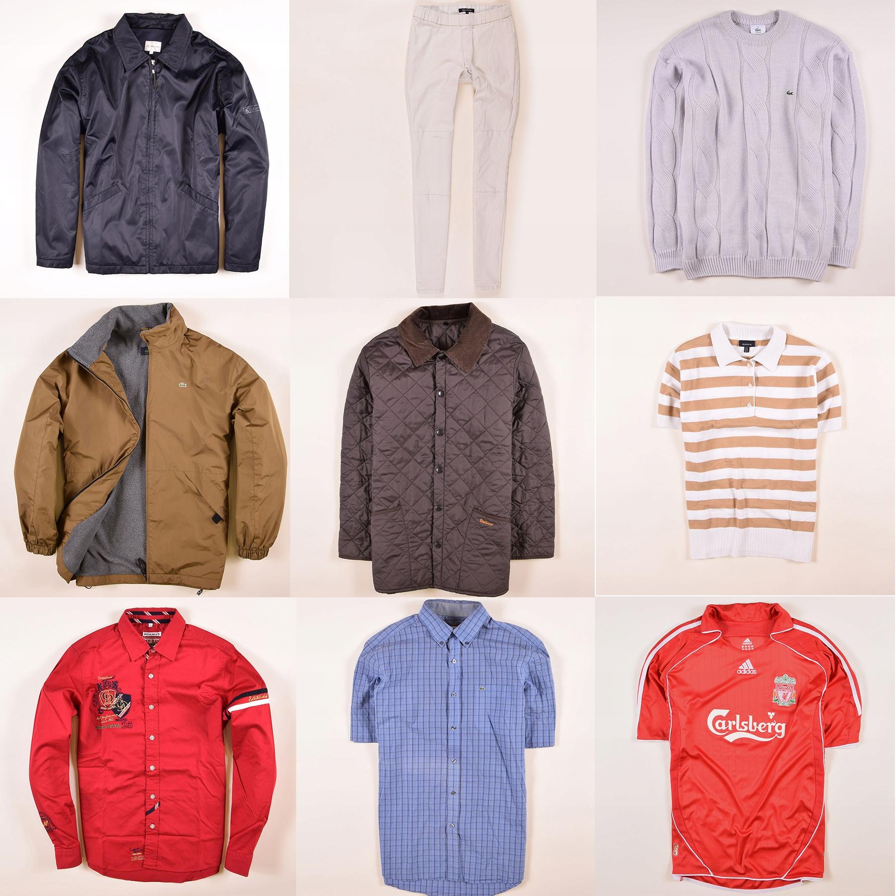 zestaw ubrań Lacoste Ralph Barbour Gant 45 sztuk