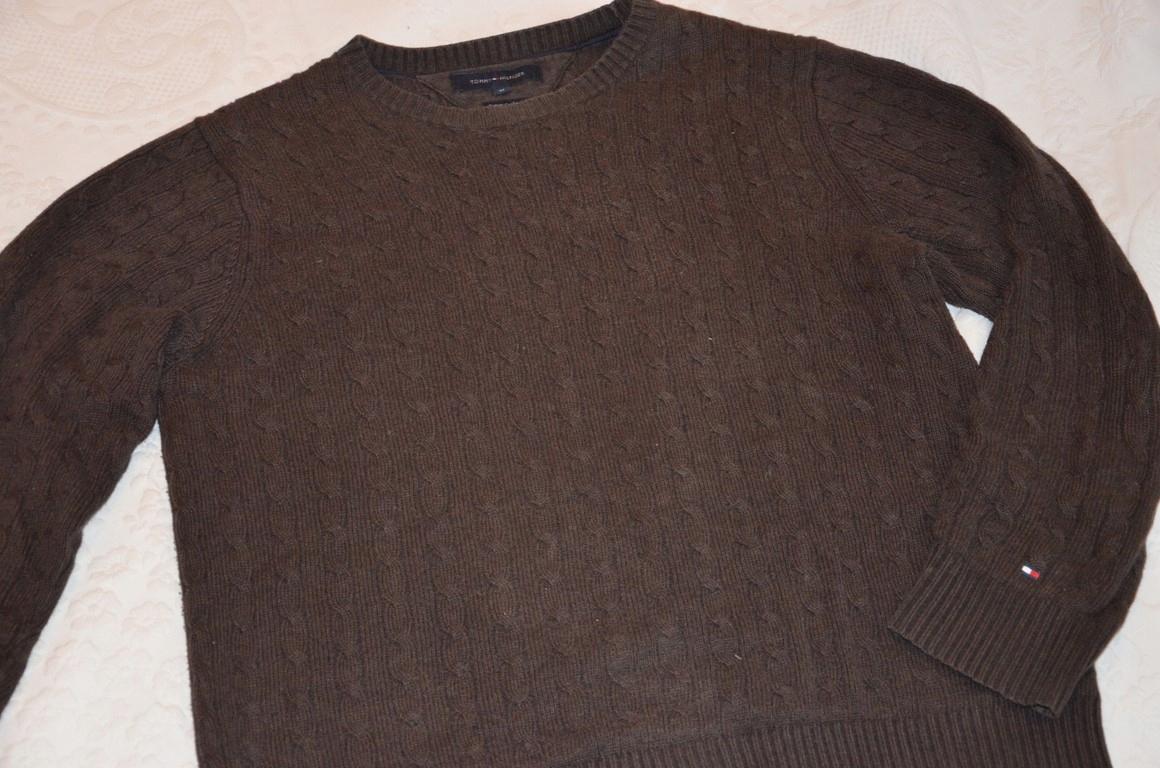 Tommy Hilfiger męski sweter KASZMIR+BAWEŁNA r. M