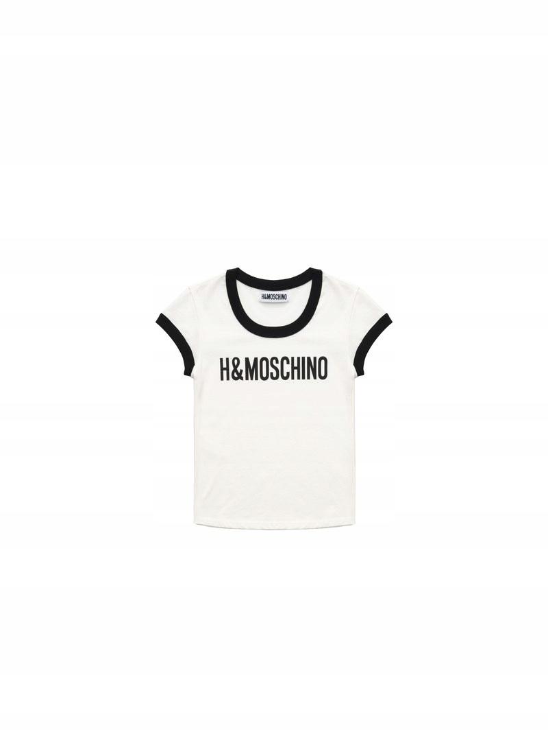H&M MOSCHINO CONSCIOUS T-SHIRT ROZ. S