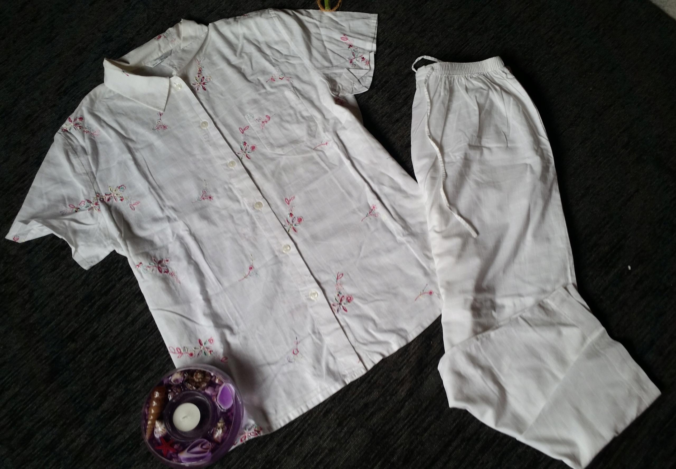 MARKS&SPENCER śliczna letnia piżama 42 XL bdb