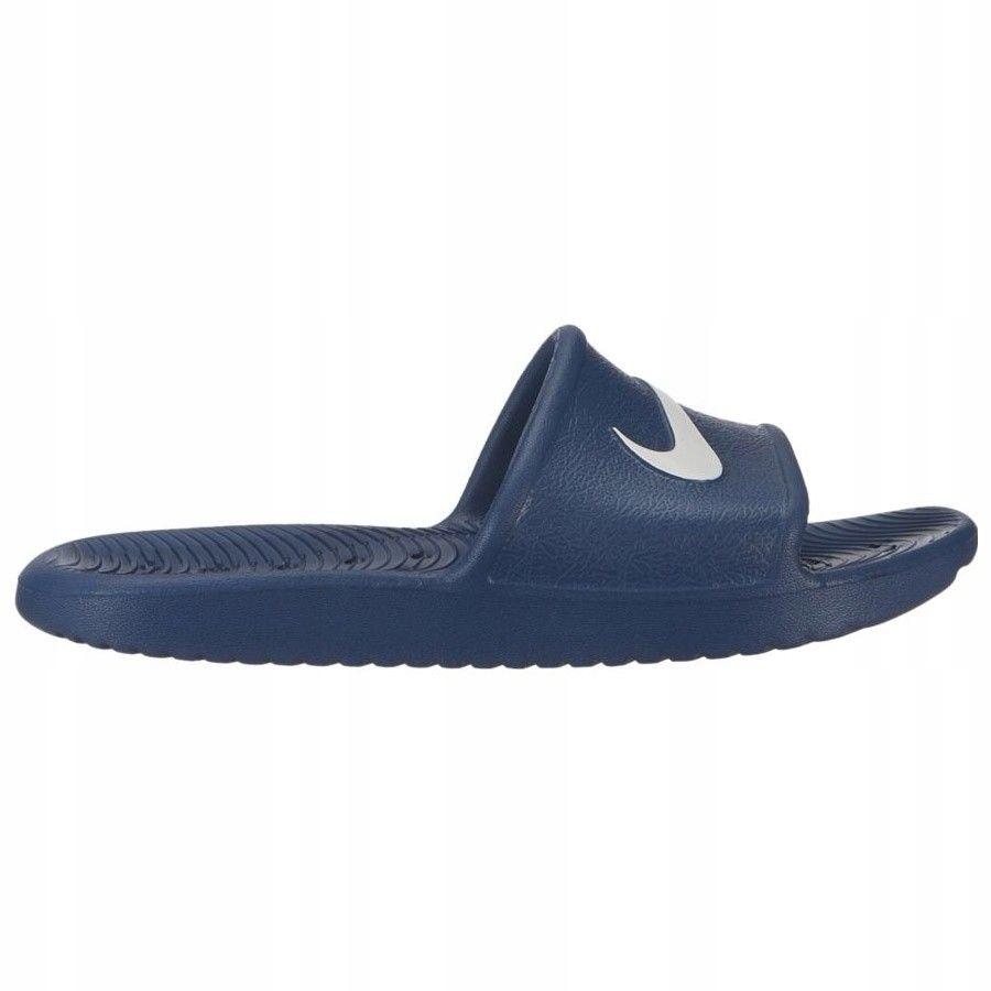 Klapki Nike Kawa Shower BQ6831 401 - GRANATOWY; 36