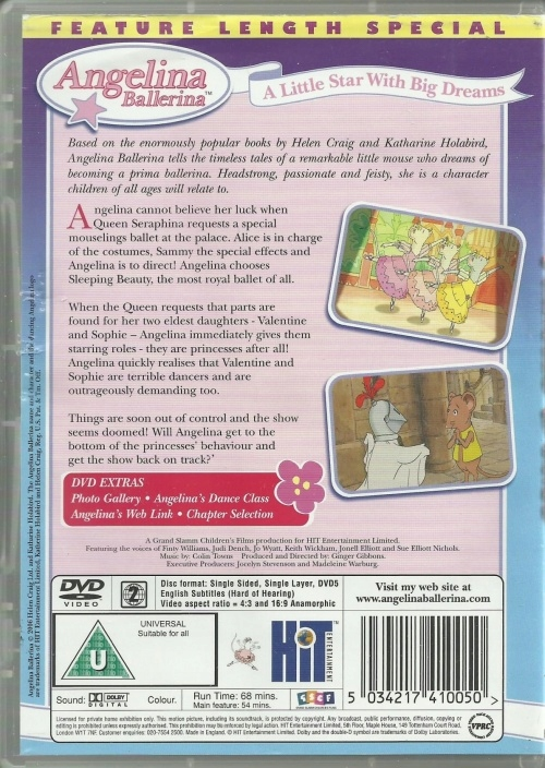 Angelina Ballerina - The Magic of Dance DVD | eBay