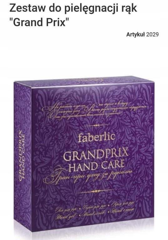 Faberlic zestaw do dłoni Grand Prix