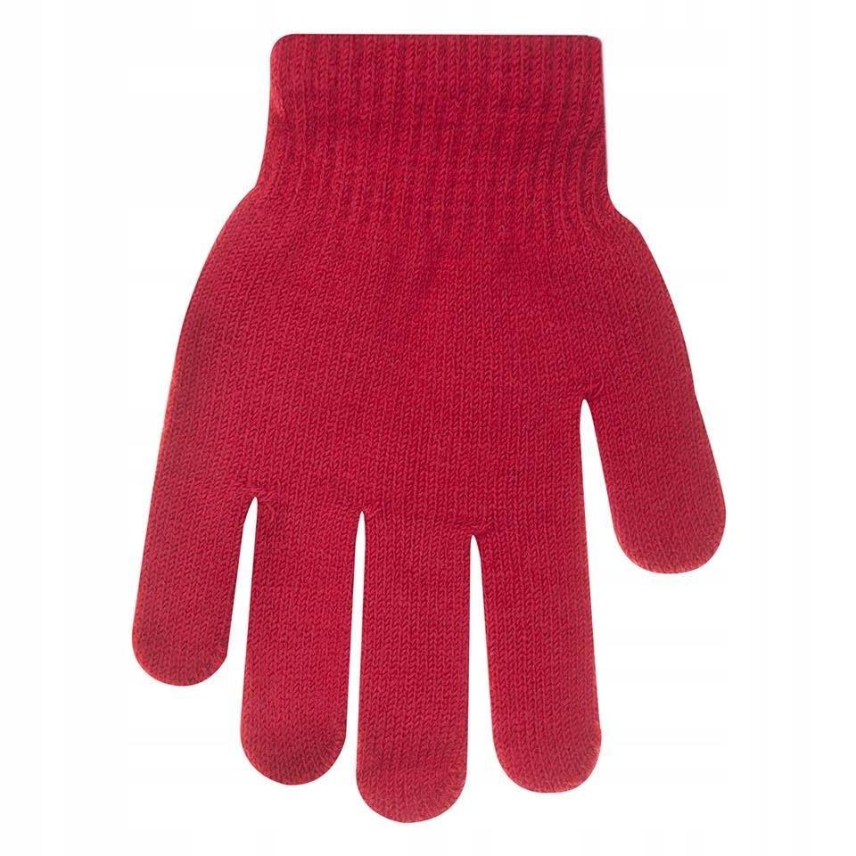 Rękawiczki ocieplane czerwone 18 cm YO!