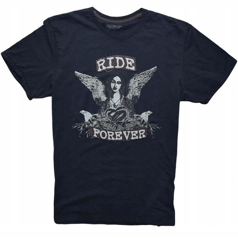 Calvin Klein L unikatowy wzór T-Shirt jedyny taki