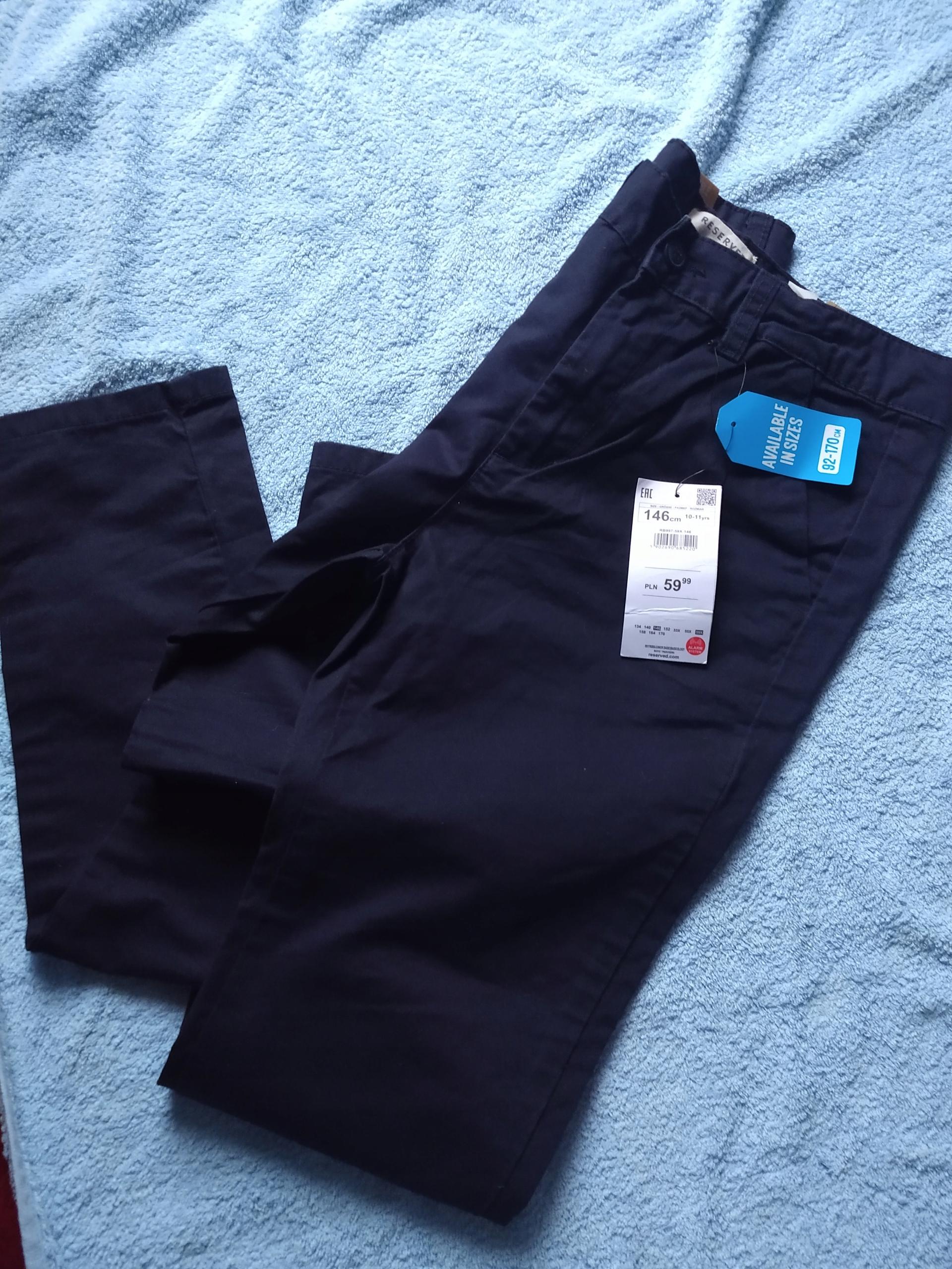 NOWE spodnie RESERVED r. 146 z metką