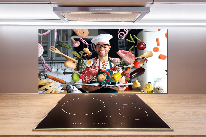 Panel do kuchni Kucharz przepisy 100x50 cm + KLEJ