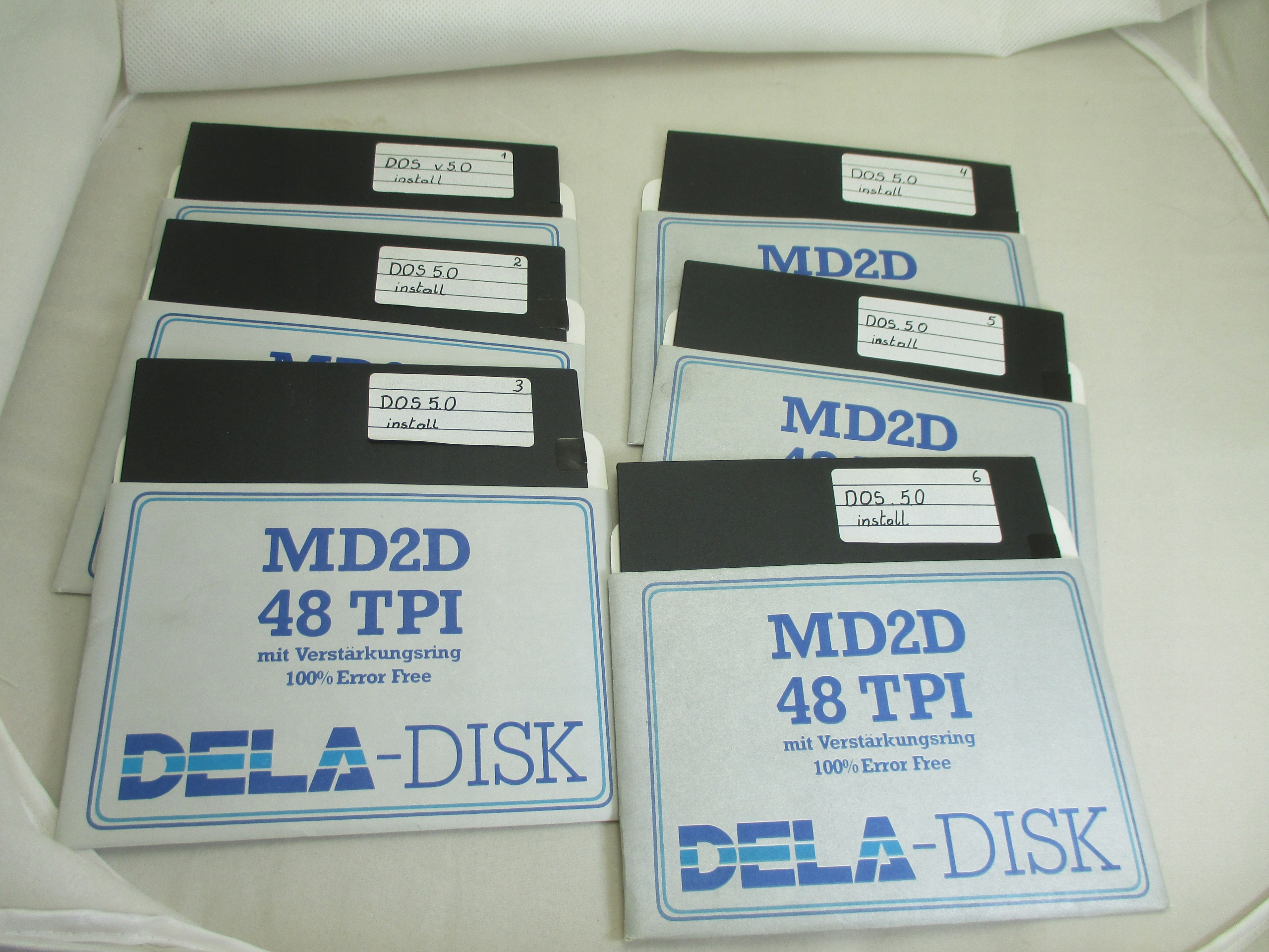 DYSKIETKI DELA MD2D 48TPI 5,25 ' 6 SZTUK Z DOS 5,0