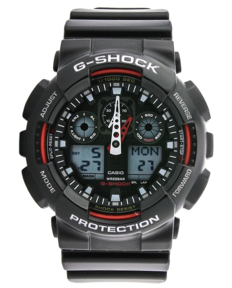 CASIO G-SHOCK GA-100-1A4ER stoper timer 20ATM