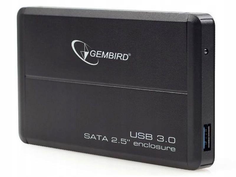 """GEMBIRD OBUDOWA USB 3.0 2.5"""" SATA CZARNA"""